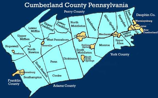 Cumberland County, PA map with Townships